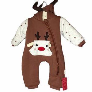 PatPat Reindeer Infant Bunting 0-3 Months NWT
